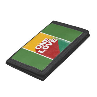 One love rasta trifold wallets