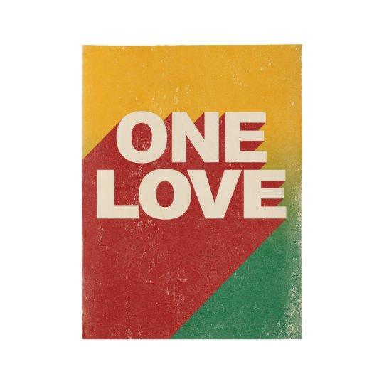 One love rasta wood poster