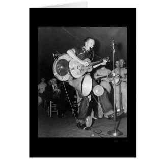 One Man Band Asheville, NC 1938 Greeting Card