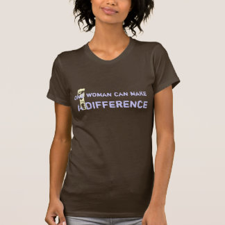 One man can make a difference. tee shirts
