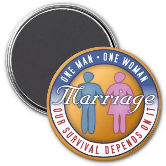One Man... One Woman 7.5 Cm Round Magnet