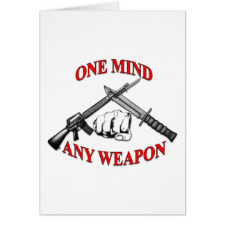 One Mind Any Weapon MCMAP Card
