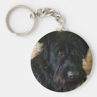 One Mischievous Dog Key Ring