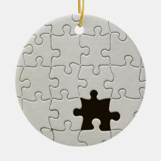 One Missing Puzzle Piece Round Ceramic Decoration