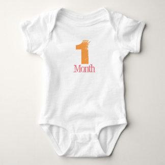 One Month Body Suit Baby Bodysuit