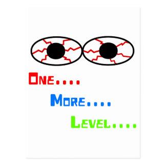 One More Level - Bloodshot Eyes Post Card
