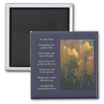 """""""One More Morning"""" Love Poem Autumn Magnet"""