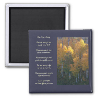 """One More Morning"" Love Poem Autumn Magnet"