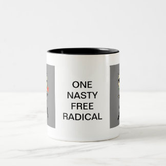 ONE NASTY FREE RADICAL CARTOON Two-Tone MUG