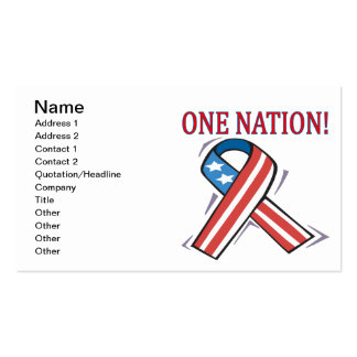 One Nation Pack Of Standard Business Cards