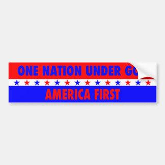 One Nation Under God, America First Bumper Sticker