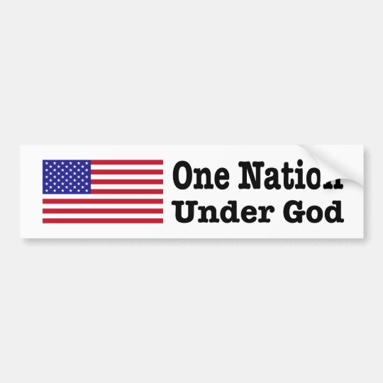 """ONE NATION UNDER GOD"" BUMPER STICKER"