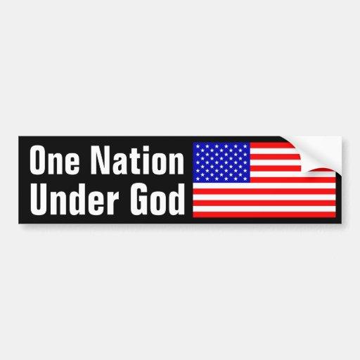 One Nation Under God Bumper Stickers