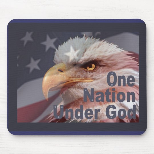 ONE NATION UNDER GOD by SHARON SHARPE Mouse Mat