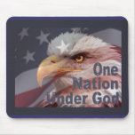 ONE NATION UNDER GOD by SHARON SHARPE Mouse Mats