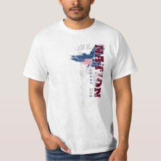 One Nation Under God Grunge Style T-Shirt