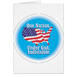 One nation under God. Indivisible Greeting Card