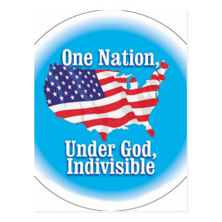 One nation under God. Indivisible Postcard