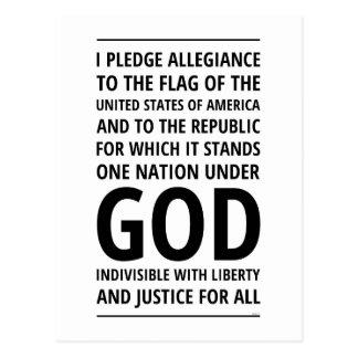 One Nation Under God Postcard