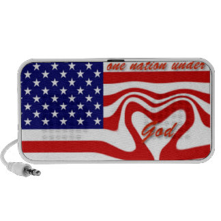 One Nation Under God Travel Speaker