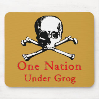 One Nation Under Grog mousepad (white fill image)
