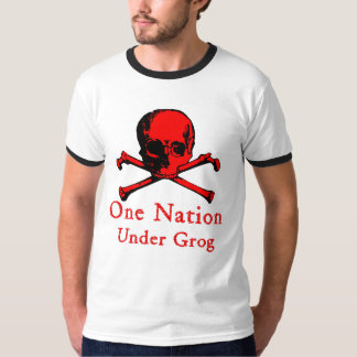 One Nation Under Grog t-shirt (red fill image)