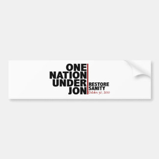 one nation under jon (stewart) bumper sticker