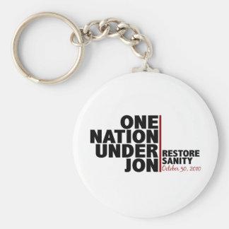 one nation under jon (stewart) key ring