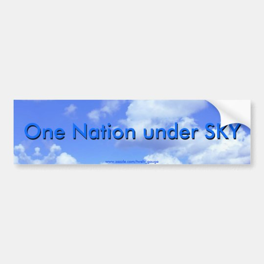 One Nation under SKY Bumper Sticker