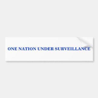 ONE NATION UNDER SURVEILLANCE BUMPER STICKER