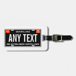 One nation under surveillance luggage tag