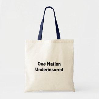 One Nation Underinsured Canvas Bag
