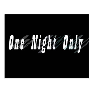 One Night Only Autograph Collectors Card Postcard