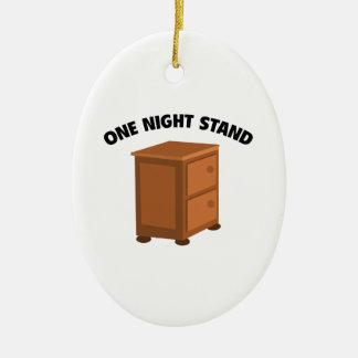 One Night Stand Ceramic Oval Decoration