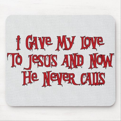 One Night Stand Jesus Mouse Pads