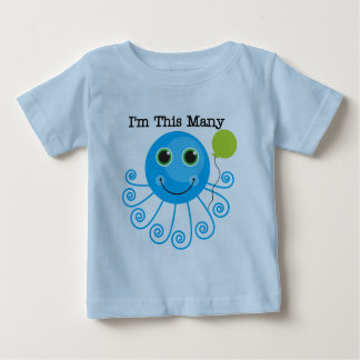 One Octopus I'm This Many Birthday Baby T-Shirt