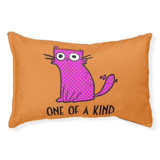 One of a Kind Cat Bed Custom Color Background