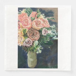 One of a Kind Floral Bouquet Napkins Paper Napkin