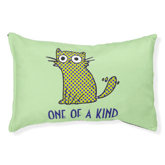 One of a Kind Green Cat Bed Own Color Background