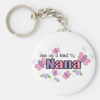 One Of A Kind Nana Basic Round Button Key Ring