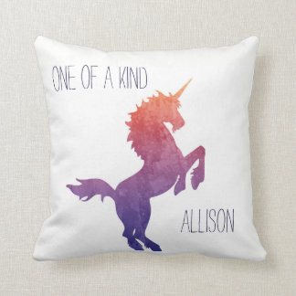 One of a Kind Personalized Watercolor Unicorn Cushion