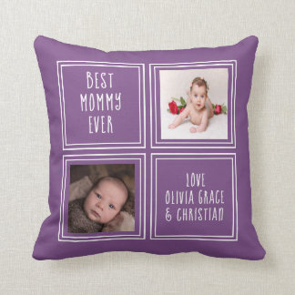 One of a Kind Two Photo Template Personalised Cushion