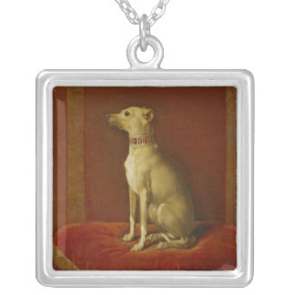 One of Frederick II's Italian greyhounds Silver Plated Necklace