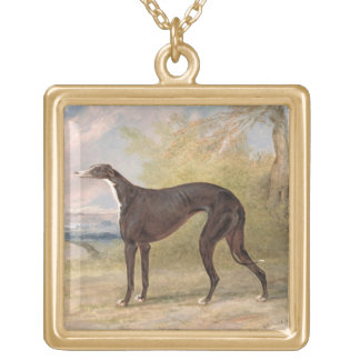 One of George Lane Fox's Winning Greyhounds: the B Gold Plated Necklace