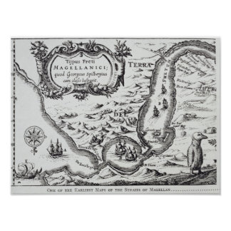 One of the earliest maps of the Magellan Poster