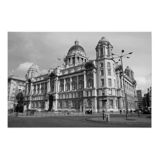 One of the Three Graces in Liverpool Poster
