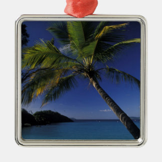 One of the World's Best beaches; Trunk Bay on Silver-Colored Square Decoration