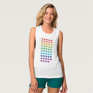 One Orlando One Pulse 49 Hearts Rainbow Tank Top