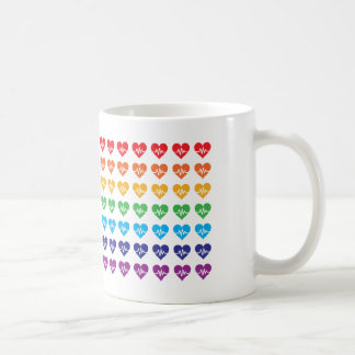 One Orlando One Pulse Rainbow 49 Hearts Coffee Mug