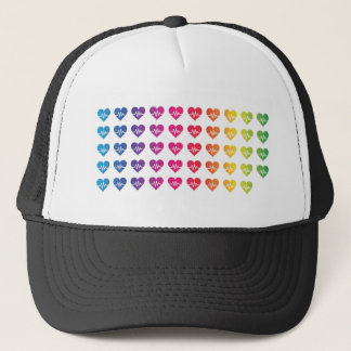 One Orlando One Pulse Rainbow 49 Hearts Trucker Hat